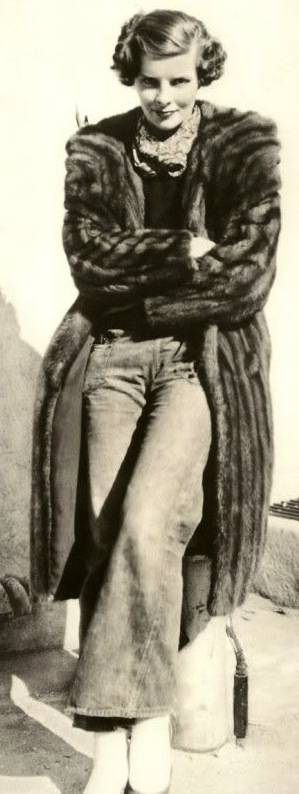 FurKatherineHepburnFurJeans