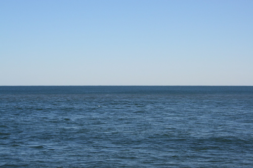 Half and half, from Montauk Point (photo by Nic).
